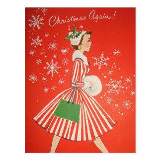Cartão retro do Natal do vintage