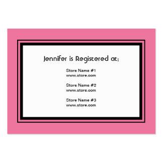Cartão retro do registro do chá de panela cartão de visita grande