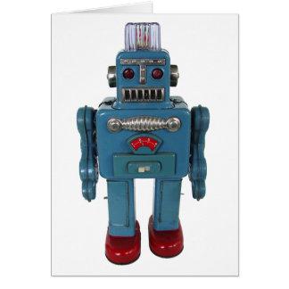 Cartão retro do vazio do robô