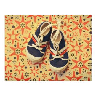 Cartão retro dos calçados