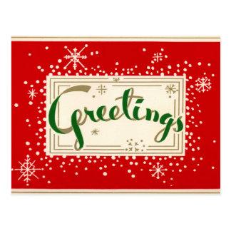 Cartão retro dos cartões de natal do divertimento
