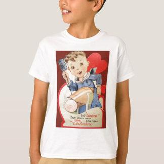 Cartão retro dos namorados do marinheiro do camiseta