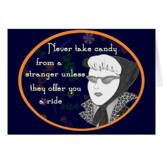 Cartão retro engraçado da mamã
