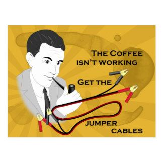 Cartão retro engraçado do café do pai