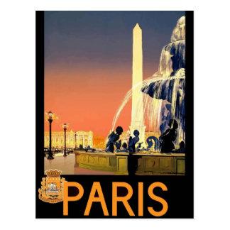 Cartão retro France Paris do viagem do vintage