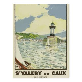 Cartão retro France Seine do viagem do vintage