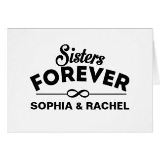 Cartão Retro - irmãs para sempre
