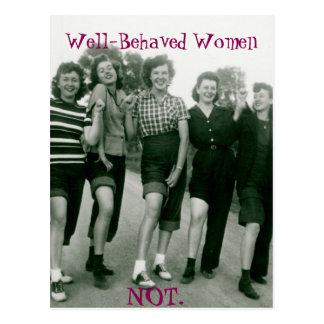 Cartão retro/Rockabilly das mulheres