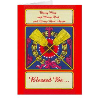 Cartão 'Reunião alegre - Be abençoado