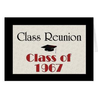 Cartão Reunião de classe 1967