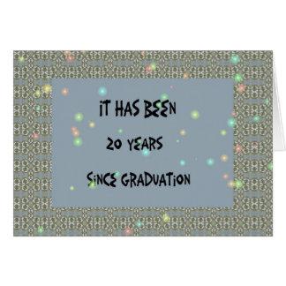 Cartão Reunião de classe, 20 anos. Azul da ardósia