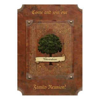 Cartão Reunião de família de couro velha do olhar