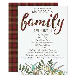 Cartão Reunião de família rústica do país da xadrez e da