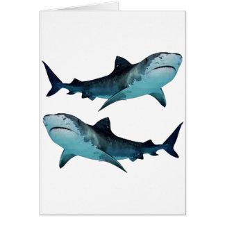 Cartão Reunião do tubarão