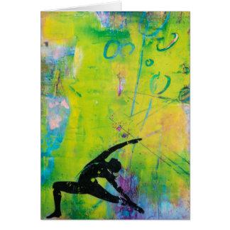 Cartão reverso da menina da ioga do guerreiro