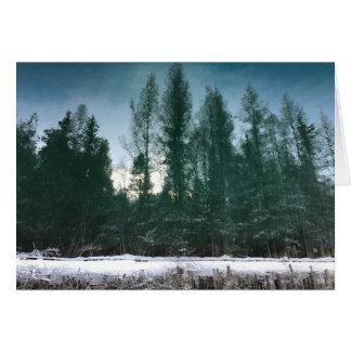 Cartão reverso do vazio da paisagem da reflexão