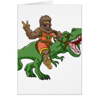 Cartão rex bigfoot do rex-T dos bigfoot-desenhos animados