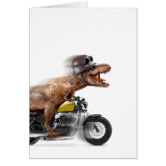 Cartão Rex dos motocicleta-tiranossauros-t do rex de T -