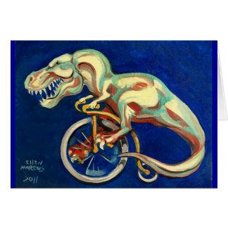 Cartão Rex em uma bicicleta