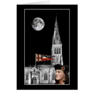 Cartão Richard III e catedral de Leicester