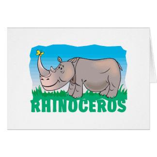 Cartão Rinoceronte amigável do miúdo
