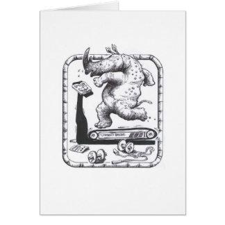 Cartão Rinoceronte da escada rolante