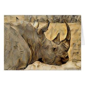 Cartão Rinoceronte em África