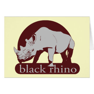 Cartão rinoceronte preto