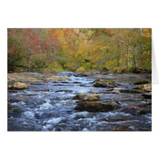 Cartão Rio de Hiawassee no outono