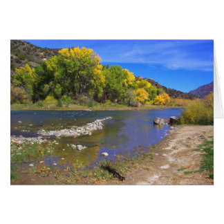 Cartão Rio do outono em Taos New mexico