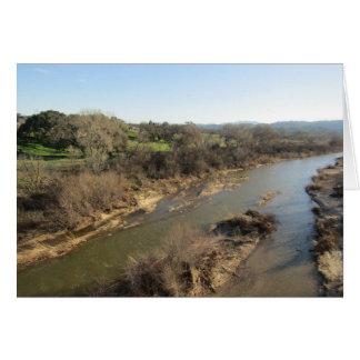 Cartão Rio dos Salinas da ponte do vinhedo, Templeton, CA