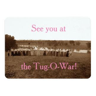 Cartão rio Elgin IL do Fox da Reboque-O-Guerra da mulher