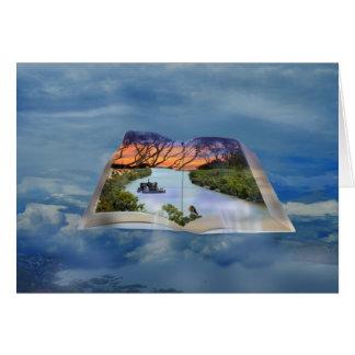 Cartão Rio Murray, página em um livro,