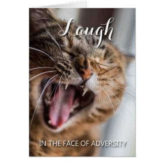 Cartão Riso face à adversidade