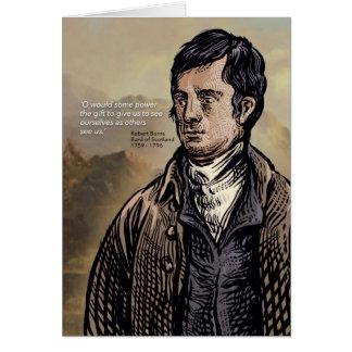 Cartão Robert Burns - bardo escocês