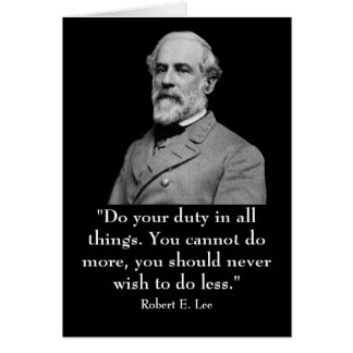 Cartão Robert E. Lee e citações