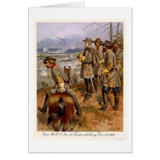 Cartão Robert E Lee em Fredericksburg, VA 1862