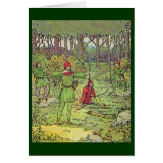 Cartão Robin Hood e seus homens alegres