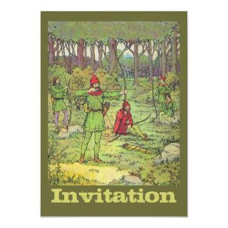 Cartão Robin Hood na floresta