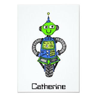 Cartão Robô, azul e verde de Arnie