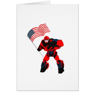 Cartão Robô com os meninos da bandeira americana para 4o