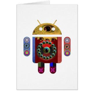 Cartão Robô do ANDROID