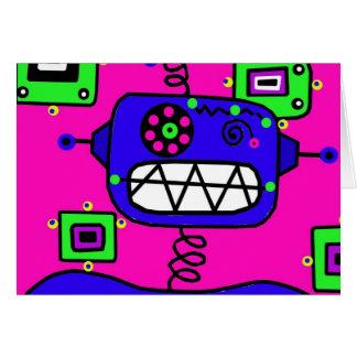 Cartão Robô do feliz aniversario