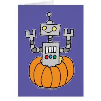 Cartão Robô na abóbora