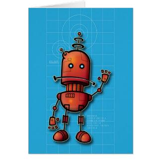 Cartão Robô olá!