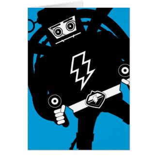 Cartão Robô retro do gigante da ficção científica