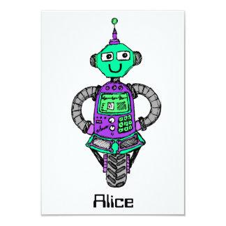 Cartão Robô, roxo e verde de Arnie