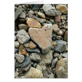 Cartão Rocha dada forma coração