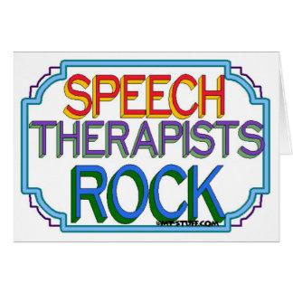 Cartão Rocha dos terapeutas de discurso