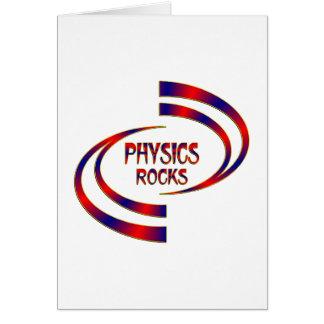 Cartão Rochas da física